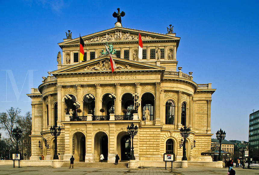 Germany, Frankfurt. Alte Oper. Old Opera House. Constructed 19th Century and rebuilt after 2nd World War.