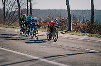 Jasper Stuyven (BEL/Trek-Segafredo) in a chasing group closing in on the race leaders<br /> <br /> 70th Kuurne-Brussel-Kuurne 2018<br /> Kuurne › Kuurne: 200km (BELGIUM)