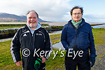 Enjoying a stroll at the Lock Gates in Lohercannon on Thursday, l to r: James Finnegan and Derry Butler.