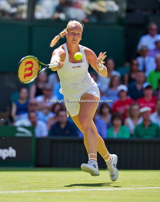 England, London, June 30, 2015, Tennis, Wimbledon, Kiki Bertens (NED) <br /> Photo: Tennisimages/Henk Koster