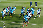Getafe CF's players during training session. February 17, 2021.(ALTERPHOTOS/Acero)