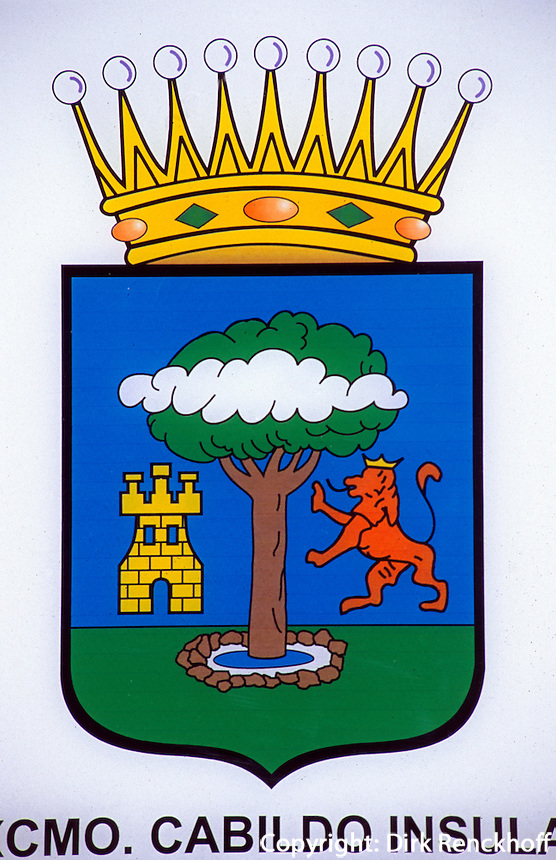 Spanien, Kanarische Inseln, El Hierro, Inselwappen