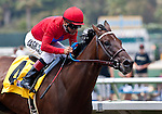 Sugarinthemorning and Patrick Valenzuela win the Fleet Treat Stakes at Del Mar Thoroughbred Club in Del Mar, CA.  July 24, 2011