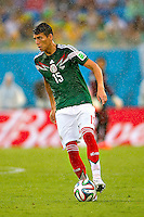 Natal, Brazil - Friday, June 13, 2014: Mexico defeated Cameroon 1-0 during World Cup group play at Estádio das Dunas.