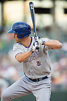 Grady Sizemore (21) of the Durham Bulls at bat against the Charlotte Knights at BB&T BallPark on July 22, 2015 in Charlotte, North Carolina.  The Knights defeated the Bulls 6-4.  (Brian Westerholt/Four Seam Images)