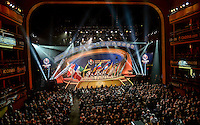 New York City, NY. - February 21, 2016:  The 2016 Copa America Centenary Draw held at the Hammerstein Ballroom in Manhattan, New York, USA.