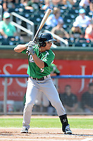 Dayton Dragons second baseman Sammy Diaz (5) during a game against the Lansing Lugnuts on August 25, 2013 at Cooley Law School Stadium in Lansing, Michigan.  Dayton defeated Lansing 5-4 in 11 innings.  (Mike Janes/Four Seam Images)