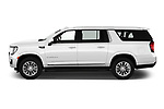 Car Driver side profile view of a 2021 GMC Yukon-XL SLT 5 Door SUV Side View
