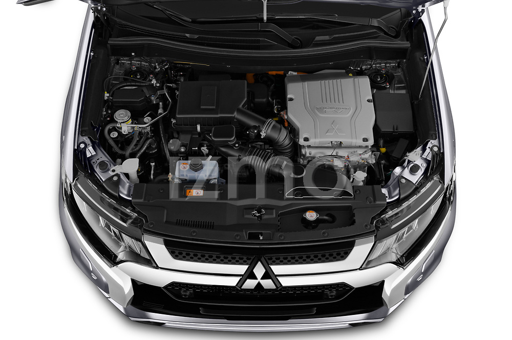 Car Stock 2020 Mitsubishi Outlander-PHEV Intense 5 Door SUV Engine  high angle detail view