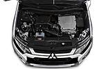Car Stock 2020 Mitsubishi Outlander-PHEV Intense 5 Door SUV Engine  high angle detail view