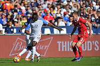 San Diego, CA - Sunday January 29, 2017: Jozy Altidore during an international friendly between the men's national teams of the United States (USA) and Serbia (SRB) at Qualcomm Stadium.