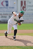 Clinton LumberKings starting pitcher Tommy Romero (29) throws a pitch during the game against the Bowling Green Hot Rods at Ashford University Field on May 2, 2018 in Clinton, Iowa.  (Dennis Hubbard/Four Seam Images)
