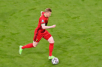 Belgian midfielder Kevin De Bruyne (7) pictured during a soccer game during the quarter final Euro 2020 European Championship between the Belgian national soccer team Red Devils and Italy , called the Azzurri , on friday 2 nd of July 2021  in the Allianz Arena in Munchen , Germany . PHOTO SPORTPIX   SPP   DAVID CATRY