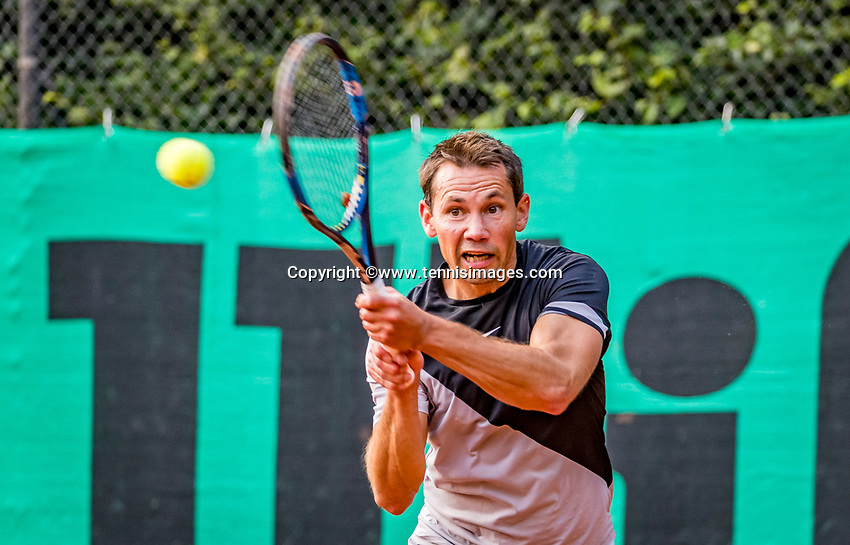 Hilversum, The Netherlands,  August 20, 2021,  Tulip Tennis Center, NKS, National Senior Tennis Championships, Men's single 35+, Dennis Rijerse (NED)<br /> Photo: Tennisimages/Henk Koster