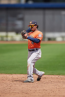 Houston Astros Rodrigo Ayarza (4) during a minor league Spring Training game against the Washington Nationals on March 28, 2017 at the FITTEAM Ballpark of the Palm Beaches in West Palm Beach, Florida.  (Mike Janes/Four Seam Images)
