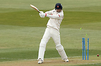 Paul Walter of Essex is bowled by Brydon Carse during Essex CCC vs Durham CCC, LV Insurance County Championship Group 1 Cricket at The Cloudfm County Ground on 15th April 2021