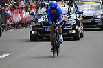 Tyler Farrar (USA) Garmin-Sharp in action during the Prologue of the 99th edition of the Tour de France 2012, a 6.4km individual time trial starting in Parc d'Avroy, Liege, Belgium. 30th June 2012.<br /> (Photo by Eoin Clarke/NEWSFILE)