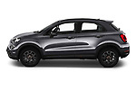 Car Driver side profile view of a 2019 Fiat 500X Cross-S-Design 5 Door SUV Side View