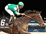 Nov.4, 2011.Royal Delta ridden by Jose Lezcano and trained by William I. Mott approaching the finish line and winning the  Breeders' Cup Ladies' Classic at Churchill Downs, Louisville, KY