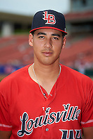 Louisville Bats starting pitcher Robert Stephenson (44) poses for a photo before a game against the Buffalo Bisons on June 23, 2016 at Coca-Cola Field in Buffalo, New York.  Buffalo defeated Louisville 9-6.  (Mike Janes/Four Seam Images)