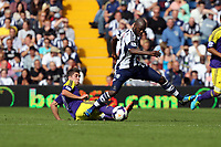 Sunday 01 September 2013<br /> Pictured L-R: Pablo Hernandez of Swansea marking Youssouf Mulumbu of West Brom.<br /> Re: Barclay's Premier League, West Bromwich Albion v Swansea City FC at The Hawthorns, Birmingham, UK.