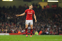 Pictured: Liam Williams of Wales in action during the Guinness six nations match between Wales and England at the Principality Stadium, Cardiff, Wales, UK.<br /> Saturday 23 February 2019