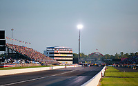 Sep 1, 2019; Clermont, IN, USA; Overall view of Lucas Oil Raceway during NHRA qualifying for the US Nationals. Mandatory Credit: Mark J. Rebilas-USA TODAY Sports