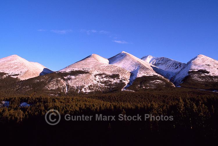 Northern Rockies along the Alaska Highway, Northern BC, British Columbia, Canada, Winter