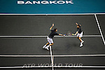 BANGKOK, THAILAND - OCTOBER 01: Colin Fleming and Ken Skupski of Great Britain in action on their doubles match against Christopher Kas of Germany and Viktor Troicki of Serbia during the Day 7 of the PTT Thailand Open at Impact Arena on September 30, 2010 in Bangkok, Thailand. Photo by Victor Fraile / The Power of Sport Images
