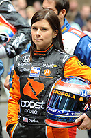 NEW YORK - MAY 18:  Indy drivers at press event for the Inday 500. on May 18, 2009 in New York City.<br /> <br /> People:    Danica Patrick