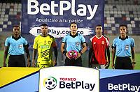BARRANQUILLA - COLOMBIA, 18-10-2021: Barranquilla F. C. y el Itagüi Leones F. C. durante partido de la fecha 13 por el Torneo BetPlay DIMAYOR II 2021 en el estadio Romelio Martinez en la ciudad de Baranquilla. / Barranquilla F. C. and Itagüi Leones F. C. during a match of the 13th date for the BetPlay DIMAYOR II 2021 Tournament at the Romelio Martinez stadium in Baranquilla city. / Photo: VizzorImage / Jairo Cassiani / Cont.
