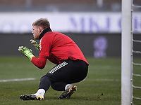9th January 2021; Memorial Stadium, Bristol, England; English FA Cup Football, Bristol Rovers versus Sheffield United; Aaron Ramsdale of Sheffield United warms up