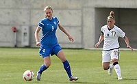 20180305 - LARNACA , CYPRUS : Finnish Juliette Kemppi pictured with Italian Lisa Boattin (r) during a women's soccer game between Finland and Italy , on monday 5 March 2018 at the AEK Arena in Larnaca , Cyprus . This is the third game in group A for Finland and Italy during the Cyprus Womens Cup , a prestigious women soccer tournament as a preparation on the World Cup 2019 qualification duels. PHOTO SPORTPIX.BE | DAVID CATRY