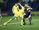 Ross County v St Johnstone…27.12.17…  Global Energy Stadium…  SPFL<br />Steven MacLean holds off Marcus Fraser<br />Picture by Graeme Hart. <br />Copyright Perthshire Picture Agency<br />Tel: 01738 623350  Mobile: 07990 594431