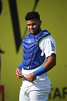 Keibert Ruiz (10) of the Rancho Cucamonga Quakes before a game against the Stockton Ports at Loan Mart Field on July 16, 2017 in Rancho Cucamonga, California. Rancho Cucamonga defeated Stockton 9-1. (Larry Goren/Four Seam Images)