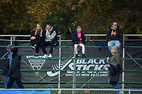 Fans arrive for the Sentinel Homes Trans Tasman Series hockey match between the New Zealand Black Sticks Women and the Australian Hockeyroos at Massey University Hockey Turf in Palmerston North, New Zealand on Sunday, 30 May 2021. Photo: Dave Lintott / lintottphoto.co.nz
