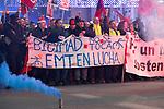 EMT workers on strike in Madrid on December 13