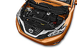 Car Stock 2018 Nissan Murano Platinum 5 Door SUV Engine high angle detail view