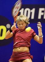 16-12-07, Netherlands, Rotterdam, Sky Radio Masters, Michaella Krajicek  heeft het erg moeilijk in de finale tegen Renée Reinhard