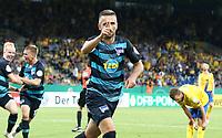 Vedad Ibisevic 2:1    celebration   2:1  <br /> / Sport / Football / DFB Pokal 1.round 3. Bundesliga Bundesliga /  2018/2019 / 20.08.2018 / BTSV Eintracht Braunschweig vs. Hertha BSC Berlin / DFL regulations prohibit any use of photographs as image sequences and/or quasi-video. /<br />       <br />    <br />  *** Local Caption *** © pixathlon<br /> Contact: +49-40-22 63 02 60 , info@pixathlon.de