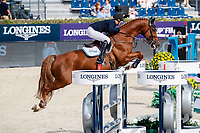 GBR-Holly Smith rides Fruselli during the Negrita Cup. Final-1st. 2021 ESP-Longines FEI Jumping Nations Cup Final. Real Club de Polo, Barcelona. Spain. Friday 1 October 2021. Copyright Photo: Libby Law Photography