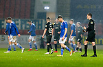 St Johnstone v Livingston…12.12.20   McDiarmid Park      SPFL<br />Guy Melamed and the saints players trudge off the pitch after losing 2-1 to Livingston<br />Picture by Graeme Hart.<br />Copyright Perthshire Picture Agency<br />Tel: 01738 623350  Mobile: 07990 594431