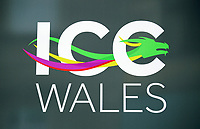 Pictured: The ICC Wales logotype. Friday 23 June 2017<br /> Re: First Minister for Wales Carwyn Jones has joined Sir Terry Matthews, Chairman of the Celtic Manor Resort; Stephen Bowcott, Chief Executive of Sisk Group Construction; and Debbie Wilcox, Leader of Newport City Council, to break ground on the site of the new ICC Wales.<br /> Around 80 invited guests from the public and private sectors of the events industry have also witnessed the ground breaking ceremony which marks the official start of the construction of the new venue, due to open in 2019.<br /> The dignitaries will use commemorative spades to symbolically dig the first ground on the new site, marking the start of building work in earnest.