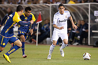 Angel Di Maria dribbles the ball. Real Madrid defeated Club America 3-2 at Candlestick Park in San Francisco, California on August 4th, 2010.