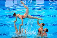 Artistic Swimming<br /> Team Free<br /> Final<br /> GBR GREAT BRITAIN<br /> COSTELLO Millicent<br /> DAVIES Isobel<br /> GUNN Daisy<br /> HUGHES Cerys<br /> LARSEN Cerys<br /> LLOYD Daniella<br /> SWATMAN Robyn<br /> TURBERVILLE Laura<br /> BLINKHORN Isobel<br /> LAWRENCE Aimee<br /> XXXV LEN European Aquatic Championships<br /> Duna Arena<br /> Budapest  - Hungary  11/5/2021<br /> Photo Pasquale Francesco Mesiano / Deepbluemedia / Insidefoto
