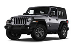 Stock pictures of low aggressive front three quarter view of 2020 JEEP Wrangler Sport 3 Door SUV Low Aggressive