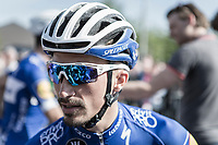 Later race winner Julian Alaphilippe (FRA/Quick Step Floors) waiting the pre race team presentation. <br /> <br /> 82nd La Flèche Wallonne 2018<br /> 1 Day Race: Seraing - Huy (198,5km)