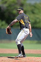 Pittsburgh Pirates pitcher Ryan Hafner (52) during a minor league spring training game against the Philadelphia Phillies on March 18, 2014 at the Carpenter Complex in Clearwater, Florida.  (Mike Janes/Four Seam Images)