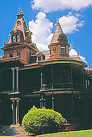 Austin:  The Littlefield House. The oldest remaining building on the U. of Texas campus, 1893.  James Wahrenberger, Architect. Victorian style.