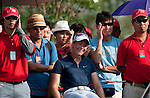 CHON BURI, THAILAND - FEBRUARY 18:  Suzann Pettersen of Norway laughs on the 18th tee during day two of the LPGA Thailand at Siam Country Club on February 18, 2011 in Chon Buri, Thailand. Photo by Victor Fraile / The Power of Sport Images